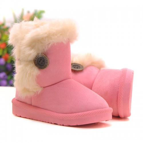 2016 Winter Children Boots Thick Warm Cotton-Padded Suede Buckle Kids Boots
