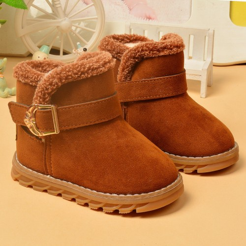 2016 Winter classic baby boy and girl cotton shoes non-slip kids fashion boots