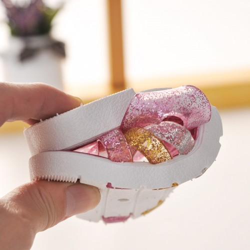 2016 children's summer beach sandals non-slip flat heels casual shoes outdoor princess sandals for kids size 24-35