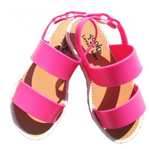 2017 Children Sandals Girls Open Toe Gladiator 2 Strap Flat Baby Sandals Summer Princess Sweet Design Kids Sandals Girls Shoes