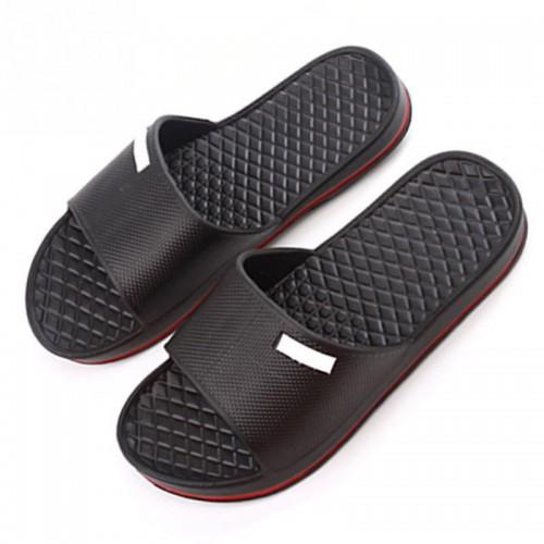 2017 Summer New High Quality Mens Slip On Slide Sandals Flip Flop Shower Shoes Slippers Black/Blue