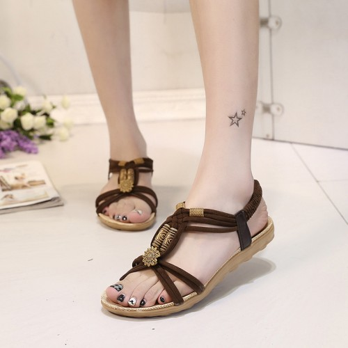 2017 Women Sandals Plus Size 36-42 Summer Shoes Woman Fashion Flip Flops Ladies Shoes Sandalias Mujer Black beige