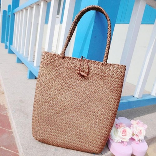 Women Beach Bag Handmade Cooler Braid Straw Large Tote Bag