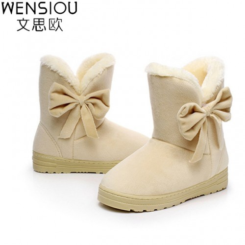 Solid ankle boots for women cow muscle bottomed