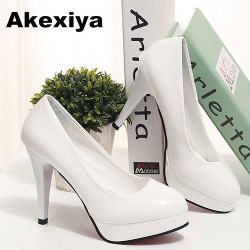 Akexiya Korean Version tenis feminino Sexy Women pumps