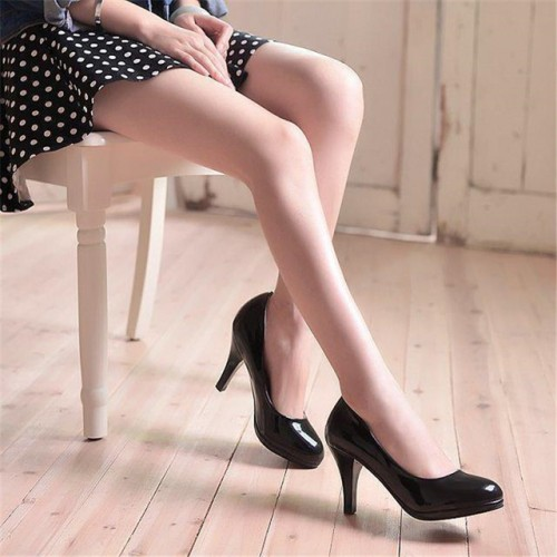 2017 New Fashion Female Round Toe High-heeled Shoes Women SImple Girl Single shoes Women Shoes High quality Mature Ladies shoe
