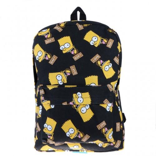 New Cartoon Printing Canvas Backpack School Rucksack Backpack Women Travel Bag School Bags for Teenagers Mochila Feminina 1STL