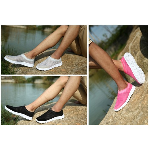 Akexiya New Fashion Women Unisex Shoes Black Slip on