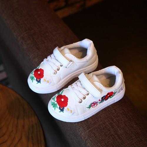 Autumn Children'S Shoes Girls Sneaker Fashion Casual Flower