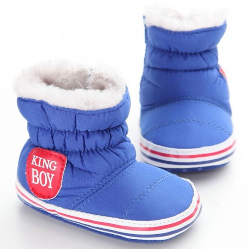 Baby Winter Snow Shoes Bottom Anti-slip Boots Toddler Plus Velvet Booties 0-18M