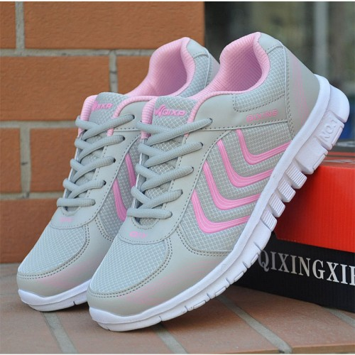 Fashion Women Casual Shoes Woman Lace Up Breathable Mesh Shoes