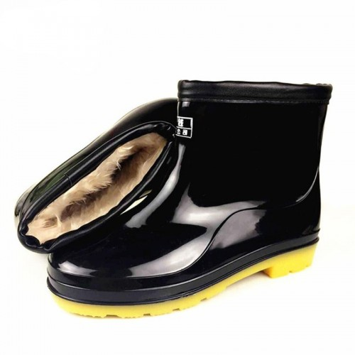 Fengnong Kitchen Rain Boots Ankle Waterproof Flat With Solid All-season Men Boots
