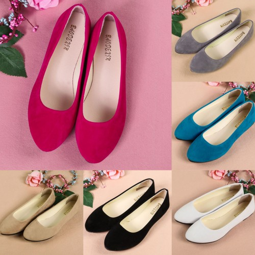 Hot 2017 !!! New Fashion Women Lady Boat Shoes Casual Flat Ballet Sweet Loafers Slip On Flats Loafers Single Shoes 6 Colors