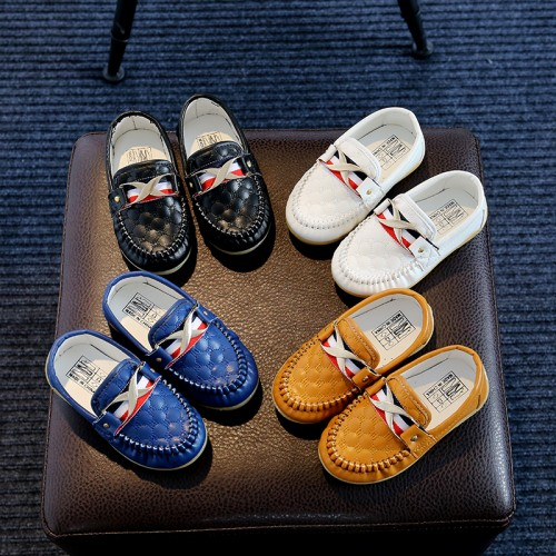 Boys Shoes Slip-on Loafers Oxford Flat Comfortabl Leather Kids Fashion Sneaker
