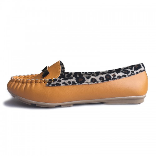 Leopard Flats Women Shoes Casual Soft Comfortable Loafers