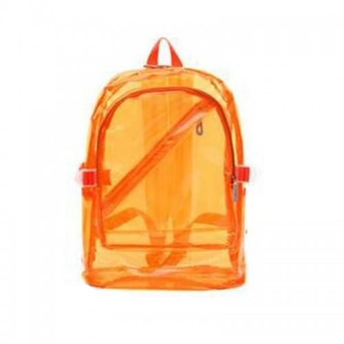 NEW Waterproof Backpack Transparent Clear Plastic for Teenage Girls PVC School Bags Shoulders Bag space backpack notebook