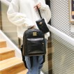 2pcs Women PU Leather Backpack+ Small Bag Casual School Bag for Teenage Girals Women Backpack Leather Backpack Bag Set Bolsa
