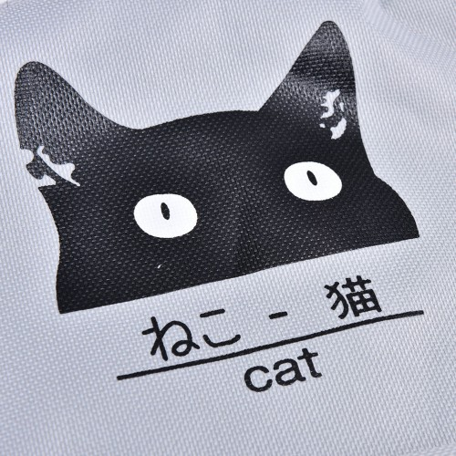 Velishy Cute Cartoon Cat Printing Backpack Women Canvas Backpack