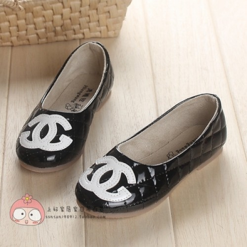 Korean style Children shoes 2016 spring girls new fashion small grid leather Moccasins princess shoes kids casual shoes