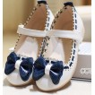 Girls white dress shoes models bowknot princess shoes light leather Korean shoes for children A19