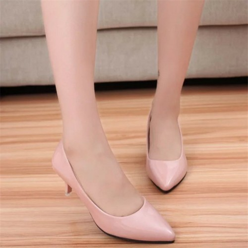 stiletto Women Pointed Toe low Heels