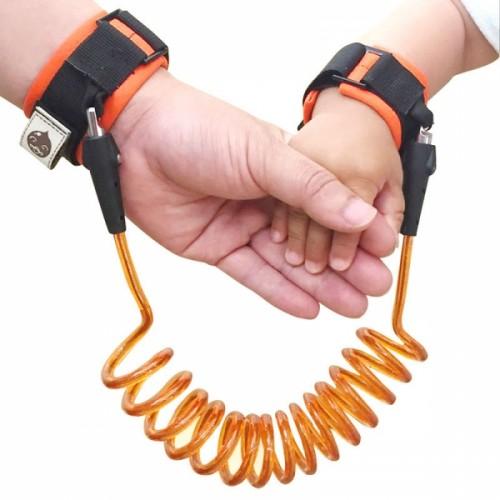 1.5m Children Anti-lost Wristband Elastic Safety Leash Harness Orange