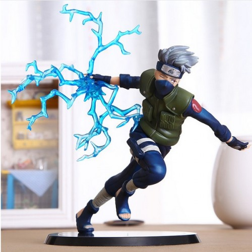 22cm Cool Naruto Kakashi Sasuke Action Figure Anime puppets Figure Model PVC Toy Multi-color