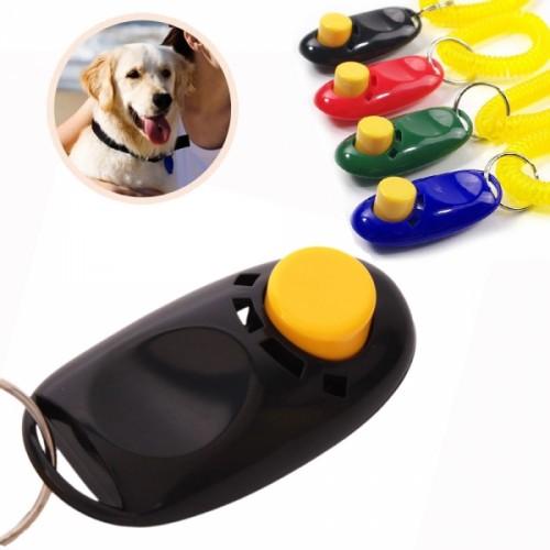 Dog Pet Button Clicker Trainer Puppy Training Clicker Obedience Trainer Pet Button