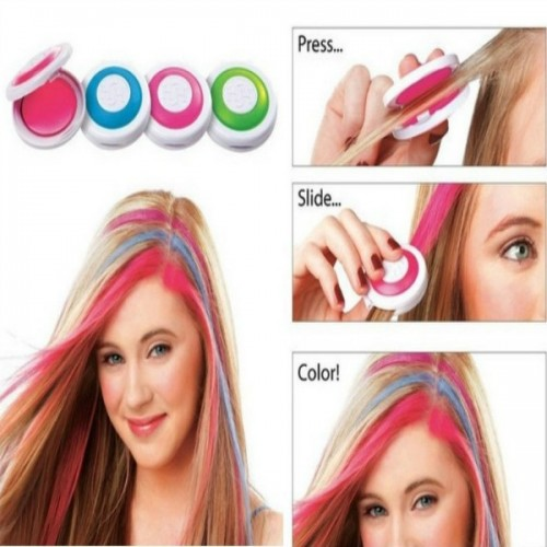 4pcs Chalk Hair Coloring Tool Red & Blue & Purple & Green