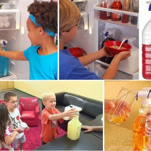 The Magic Tap Electric Automatic Juice Sucker Water Drink Dispenser White