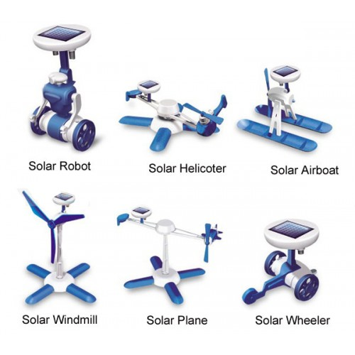 6-in-1 Enjoyable Solar Power Educational Assembled Kit