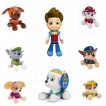 Children Gift Cartoon Figures Stuffed Plush Toys Paw Patrol Doll Chase Blue