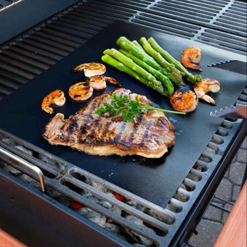 33 x 40CM Reusable BBQ Grill Mat Non-stick Teflon Mat