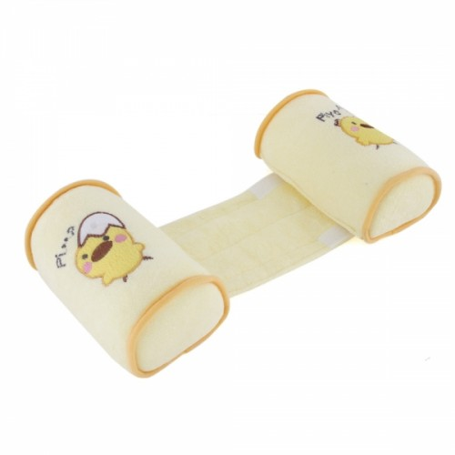 Cute Animal Pattern Newborn Infant Adjustable Anti-Roll Sleeping Pillow Head Positioner Yellow