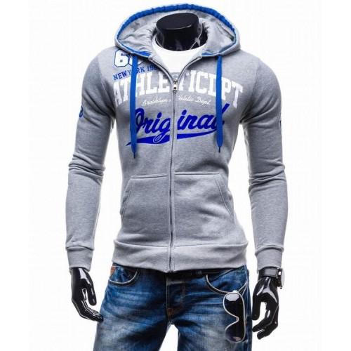 2017 Hoodies Men Sudaderas Hombre Hip Hop Mens Brand Letter Hooded Zipper Hoodie Sweatshirt Slim Fit Men Hoody XXL