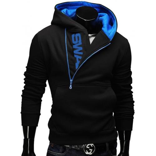 6XL Fashion Brand Hoodies Men Sweatshirt Male Zipper