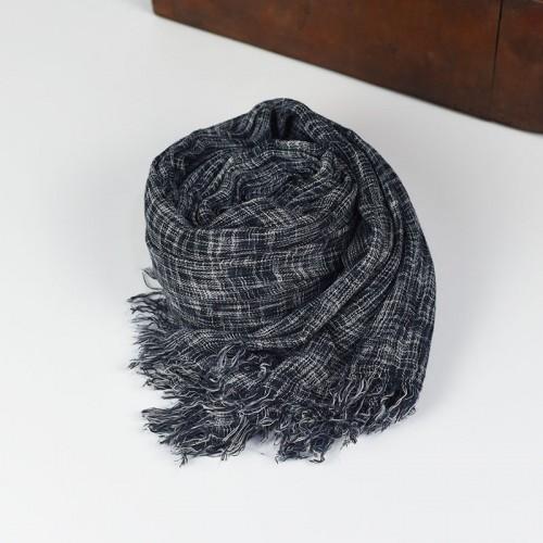 Cotton Scarf 2016 Brand Solid Scarf for Men Denim Blue Scarves