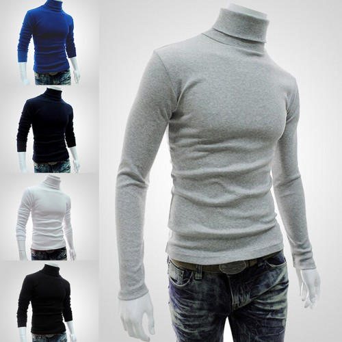 Turtleneck sweater period and the new men's high collar sweater