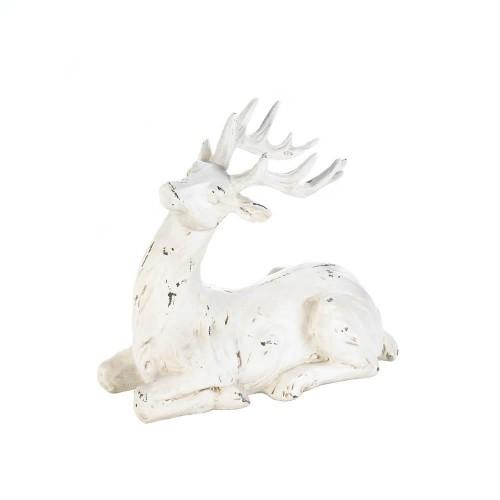 Blitzen Resting Reindeer Figurine