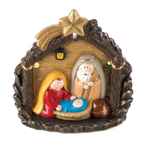 Lighted Large Nativity Figurine