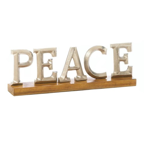 Peace Block Letter Decor