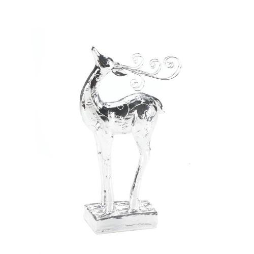 Silver Dasher Reindeer Statue