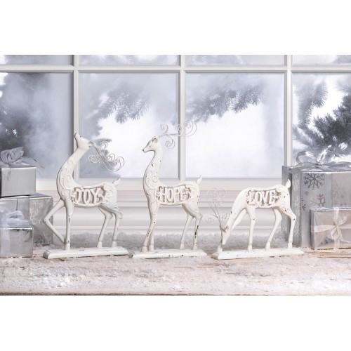 White Love Reindeer Figurine