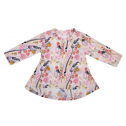 1-5 Years Baby Girl Clothes Summer Long Sleeve T-Shirt Cotton Flower Print Girls Tee Tops