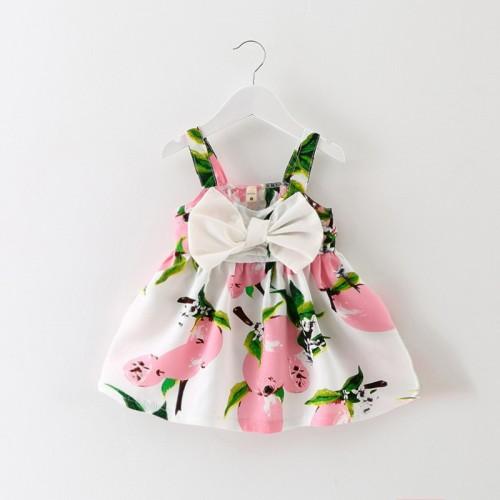2016 New Baby Dress Infant girl dresses Lemon Print Baby Girls Clothes Slip Dress Princess Birthday Dress for Baby Girl