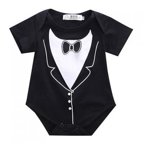 2016 Newborn Baby Boy Tuxedo Romper Jumpsuit One-pieces Gentleman Clothes newborn baby boy clothes baby boy rompers overalls
