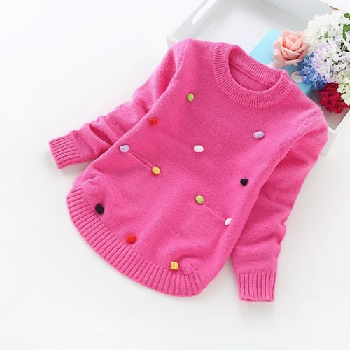 2016 new winter children sweaters 2-6years girls' sweaters 8017