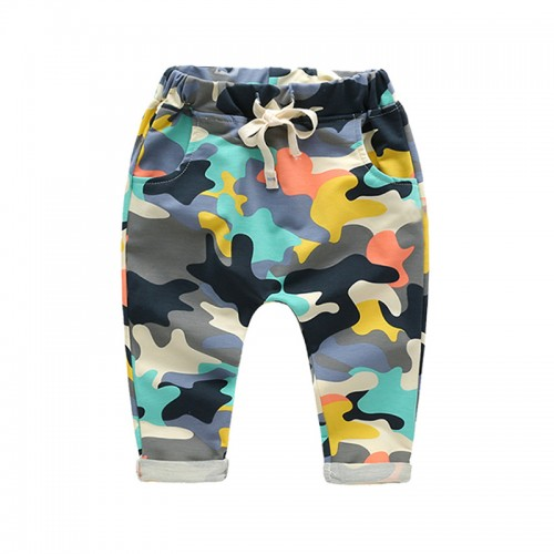 2017 Retail toddlers baby boy pants kids harem pants camouflage harem pants kids 100% cotton warm boys&girls trousers for 2-7 yr