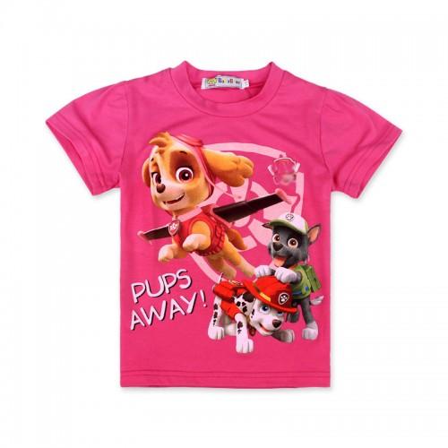 2017 Summer Clothes Children Girls Cotton T-shirt Cute Cartoon Dogs Print Short Sleeve Fashion T-shirt Clothing For Kids Girls