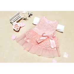 Sweet Baby Girls  Bow Lace Ball Gown Casual Princess Dress